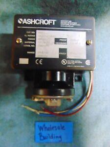 "ASHCROFT DIAPHRAGM PRESSURE SWITCH, B465T, 5A, 125/250VAC, 1/4"" FNPT, 400PSI"
