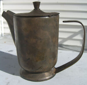 "Broggi Italian Silverplate Water Service Pot from ""Incres Line"" 7"" Tall"