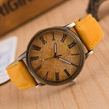 Retro Watch Cowboy Leather Band Analog Quartz Men Women Simple Wrist Watches