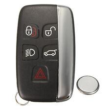 5 Button Remote Key Fob Case Service Repair Kit + Battery For Jaguar XF XJ XJL