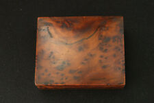SMALL BURR WALNUT JEWELLERY BOX VINTAGE HAND MADE FOR DESK MANTLE OR DRESSER