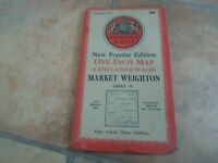 MARKET WEIGHTON Vintage Ordnance Survey Map