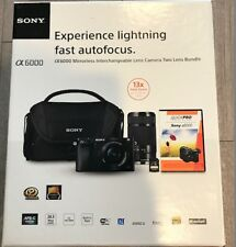 SONY A6000 Interchangeable Lens Camera 16-50MM E55-210MM Bundle + Case + Sd Card