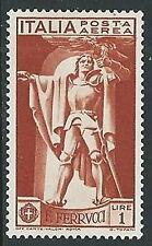 1930 REGNO POSTA AEREA FERRUCCI 1 LIRA MH * - Y012