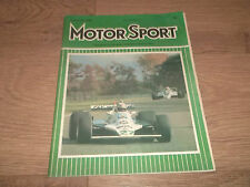 MOTOR SPORT MAGAZINE NOVEMBER 1980 ~ VERY GOOD CONDITION VINTAGE MAGAZINE
