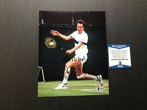 John McEnroe Hot! signed autographed tennis legend 8x10 photo Beckett BAS coa