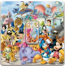 Disney Characters Cartoon Light Switch Vinyl Sticker Decal for Kids Bedroom #29
