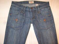 Frankie B Jeans Low Waist Straight Leg Button Front Pockets Distressed Sz 4