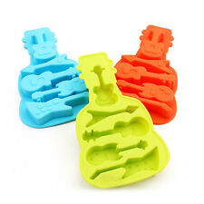 New Guitar Silicone ice Cube Tray Mold Creative Kitchen Cake Baking Accessories