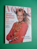 Vogue UK May 1988 Estelle Lefébure Yasmin Lebon Tatjana Patitz Linda Evangelista