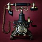 Eiffel Tower European antique vintage retro Rotary dial Corded telephone