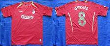 Steven GERRARD #8 FC LIVERPOOL home shirt jersey REEBOK 2005-2006 adult SIZE M