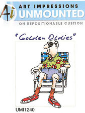 GOLDEN OLDIES Unmounted Rubber Stamp Set Embarrassing My Children AI Art Imp NEW