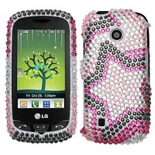 Twin Stars Bling Hard Case Cover LG Cosmos Touch VN270