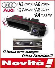 RETROCAMERA PARCHEGGIO MANIGLIA COFANO TELECAMERA AUDI A3 A4 A6 A8 Q7
