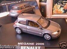 RENAULT MEGANE II 2 COUPE GRIS ACIER METAL 2006 NOREV 1/43 GREY LHD 2 DOORS