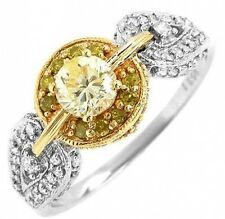 New 0.96ctw Clean Diamond Ring 14K Two Tone Gold
