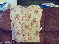 Sonoma Tunic Beige Style Shirt Size L Petite Women's NEW FREE USA SHIPPING