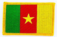 CAMEROON FLAG PATCH BADGE IRON ON NEW EMBROIDERED