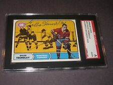 GILLES TREMBLAY AUTOGRAPHED 1967-68 TOPPS CARD SGC SLAB-ENCAPSULATED-DECEASED