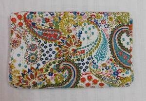 Handmade PAISLEY Kantha Quilt Indian Bedspread Throw Cotton Blanket Gudari Twin