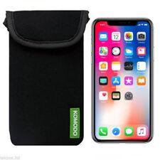 Komodo Apple iPhone X Black Neoprene Mobile Phone Pouch Pocket Cover Case Skin /