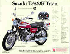 SUZUKI T500 T500K 1973 PAINT DECAL SET 2