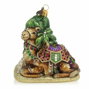 "Jay Strongwater Camel and Pyramid Ornament 5"" SDH2334250"