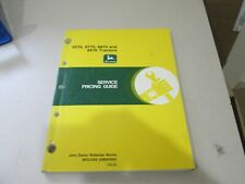 John Deere Service Pricing Guide 8770 8770 8870 8970 Tractors Spg1058 Mar 94