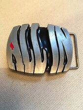 """""""ALL IN"""" Belt Buckle 3"""" X 2 1/2"""".  Heavy: 6 oz.  Pewter.  For Texas Hold'em."""