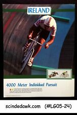 IRELAND - 1988 OLYMPICS 4000M INDIVIDUAL PURSUIT PANEL MNH