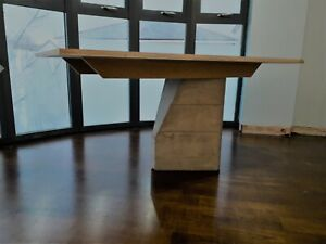 Contemporary Industrial Concrete Dining Room Table