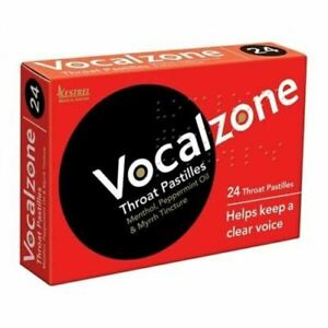 Vocalzone Throat Pastilles 24 Pastilles Helps Keep Clear Voice