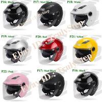 7 Colore doppia Visiera Retro Casco demi Jet Helmet MOTO Scooter Vespa Biker TOP