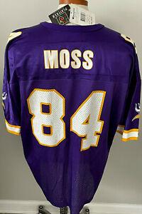 NOS Randy Moss 84 Minnesota Vikings Vtg. 90's Champion NFL Football Jersey Sz 52