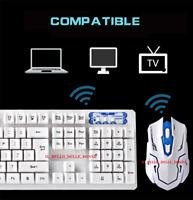 SET MOUSE TASTIERA GIOCO  2.4GHz Wireless 104 Keys Keyboard + 1600DPI Wireless