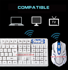 SET MOUSE TASTIERA GIOCO  2.4GHz Wireless 104 Keys Keyboard + 1600DPI Wireless