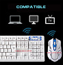 TASTIERA GIOCO Mouse  HK6500 2.4GHz Wireless 104 Keys Keyboard Wireless Optical