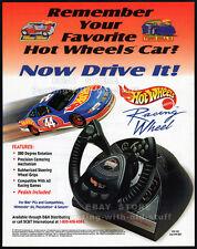 Mattel HOT WHEELS Racing Wheel__Original 1997 Trade Print AD promo__PSX__N64__PC