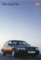 Audi S4 Prospekt 1992 1/92 Autoprospekt brochure broschyr prospectus Katalog Pkw