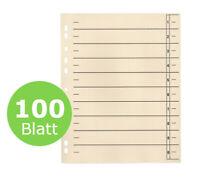 100x Trennblätter Trennblatt  für DIN A4 chamois 240 x 300 mm