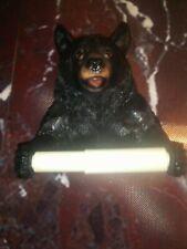 Zeckos Black Bear Helper Hanging Toilet Paper Holder (RB)
