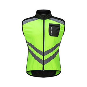 WOSAWE Cycling Vest Breathable Reflective Gilet Men Women Windproof Sleeveless