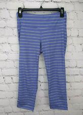 Athleta Blue & White striped fitness yoga athletic leggings Pants Womens S