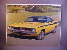1973 Plymouth Barracuda Cuda 340 full-color calendar art w/backer board to frame