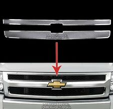 07-13 Silverado 1500 CHROME Snap On Grille Overlay Web Mesh Grill Covers Inserts