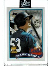 2020 Topps Archives Signature Series Mark Grace AUTO #25/63 (BN)