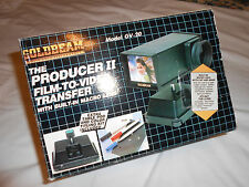 Vintage Goldbeam GV-20 The Producer II Film to Video Transfer w / Macro Lens