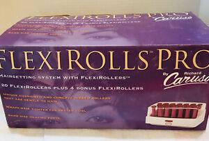 NOS Hot Rollers Richard Caruso FlexiRolls Pro Set Curl Open Box FAST SHIP (1j)