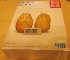 New Potato Clock Science Museum 4M clock works using vegetable electrolyte power